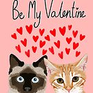 Cat valentines tabby cat siamese cat lady gifts cute kitten heart love by PetFriendly