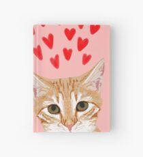 Katzen-Valentinsgruß Tabbykatze siamesische Katzen-Damegeschenke nette Kätzchenherzliebe Notizbuch