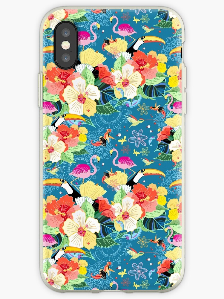 tropical pattern with birds by Tanor