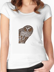 Brown Owl Women's Fitted Scoop T-Shirt