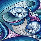 Freeform abstract blues  by NadineMay