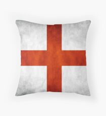 England Flag - St Georges Throw Pillow
