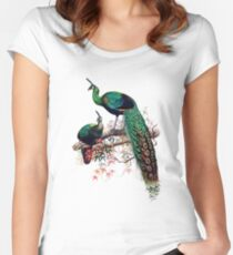 Peacock extravaganza Women's Fitted Scoop T-Shirt