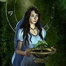 « Virgo zodiac fantasy circle » par Britta Glodde