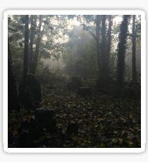Misty graveyard Glossy Sticker