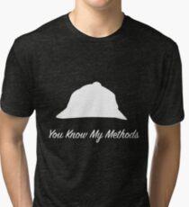 "Sherlock Holmes ""You Know My Methods"" (White) Tri-blend T-Shirt"
