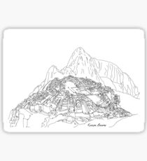 Detailed Outline Illustrations- 7 New Wonders Of The World Sticker