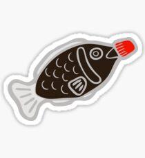 Sushi Soy Fish Pattern in Blue Sticker
