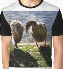 'Don't Look Up , She's taking Our Picture' Graphic T-Shirt