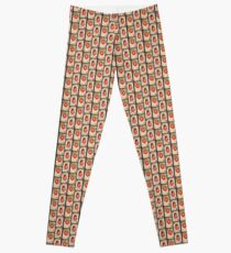 Two Queen of Red Hearts Double  Leggings