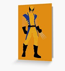 Wolverine Typography Greeting Card