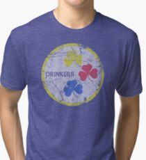 Irish Pittsburgh Drinkers St Patrick's Day Tri-blend T-Shirt