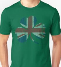 Vintage Irish Union Jack Shamrock Unisex T-Shirt