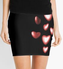 Unbreakable hearts red Mini Skirt