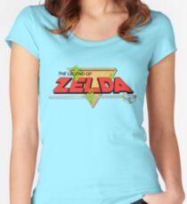 The Legend of Zelda Logo Women's Fitted Scoop T-Shirt