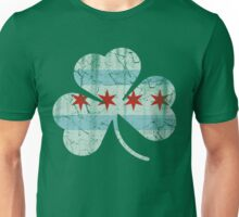 Vintage Irish Flag of Chicago Shamrock Unisex T-Shirt