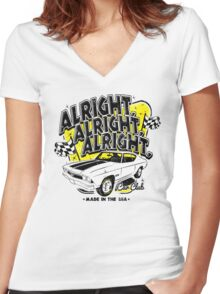 Alright, Alright, Alright Women's Fitted V-Neck T-Shirt
