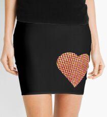 halftone heart Mini Skirt