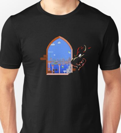 Our Hero Approaches (Black Background) T-Shirt