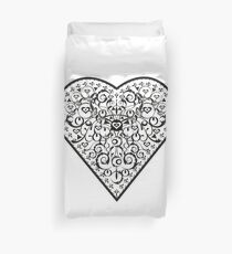 Ironwork heart black Duvet Cover