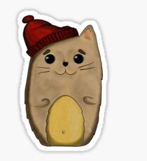 Cat in the red cap Sticker