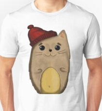 Cat in the red cap Unisex T-Shirt