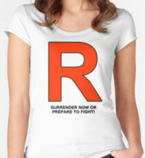 Team Rocket (Surrender Now or Prepare to Fight!) Women's Fitted Scoop T-Shirt