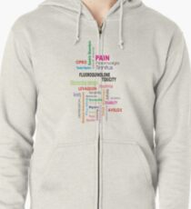 Fluoroquinolone Toxicity Wordle Zipped Hoodie