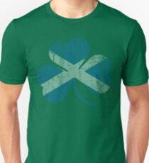 Vintage Irish Flag of Scotland Shamrock T-Shirt