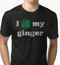 I Shamrock My Ginger St Patrick's Day Tri-blend T-Shirt