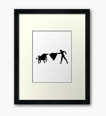 Bullfighting Framed Print