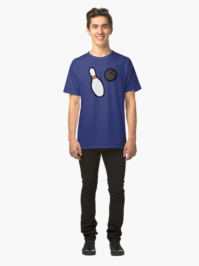 Alternate view of Bowling for Pins Pattern Classic T-Shirt