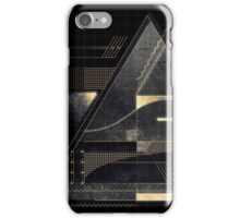 Composition of golden abstract geometry iPhone Case/Skin