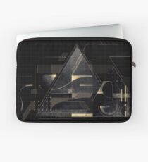 Composition of golden abstract geometry Laptop Sleeve