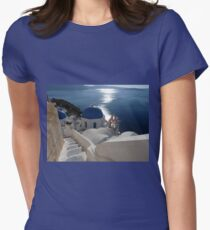 Stairway to Blue Domed Church Women's Fitted T-Shirt
