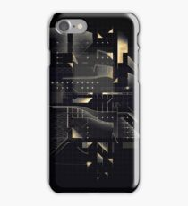 Composition of golden abstract geometry #2 iPhone Case/Skin