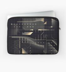 Composition of golden abstract geometry #2 Laptop Sleeve