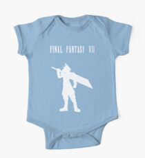 Cloud Strife Silhouette Minimal (White) - Final Fantasy VII Kids Clothes