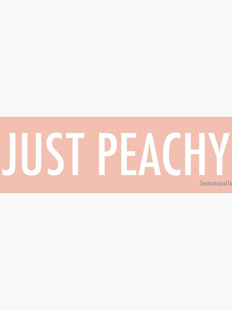 Just Peachy de leaamaarie