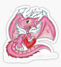 Valentine Dragon Sticker