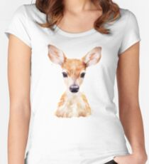 Little Deer Women's Fitted Scoop T-Shirt