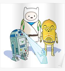 Star Wars Adventure Time Poster