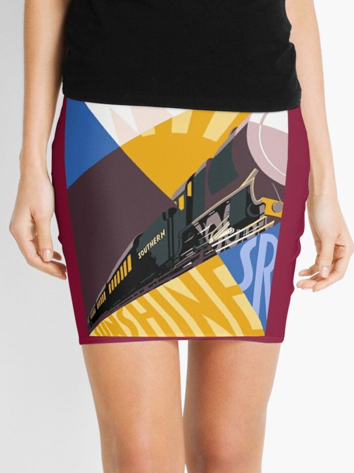 Train art deco style Southern Railway, travel South for Winter Sunshine |  Mini Skirt