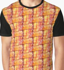 Cooked Bacon Weave Pattern Graphic T-Shirt