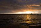 Clevedon Seafront Sunset by Nigel Bangert