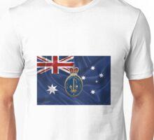 Royal Australian Navy - RAN Badge over Australian Flag Unisex T-Shirt