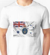 Royal Australian Navy Badge over RAN Ensign Unisex T-Shirt