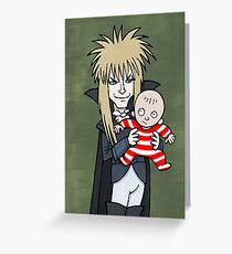 The Goblin King with Toby cartoon Greeting Card