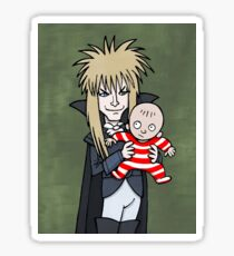 The Goblin King with Toby cartoon Sticker