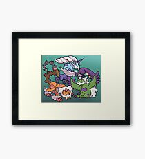 Cute Genie Pokemon Framed Print